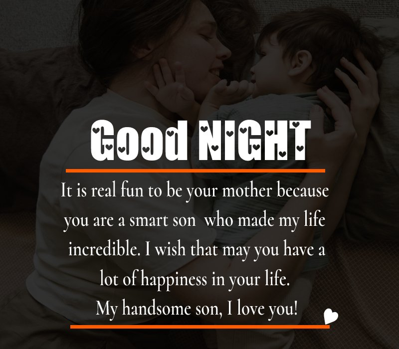 Short good night messages for son