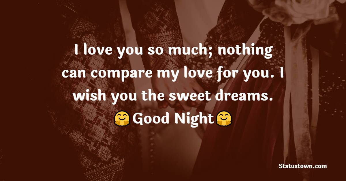Sweet good night love messages