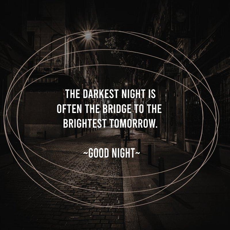 meaningful good night status