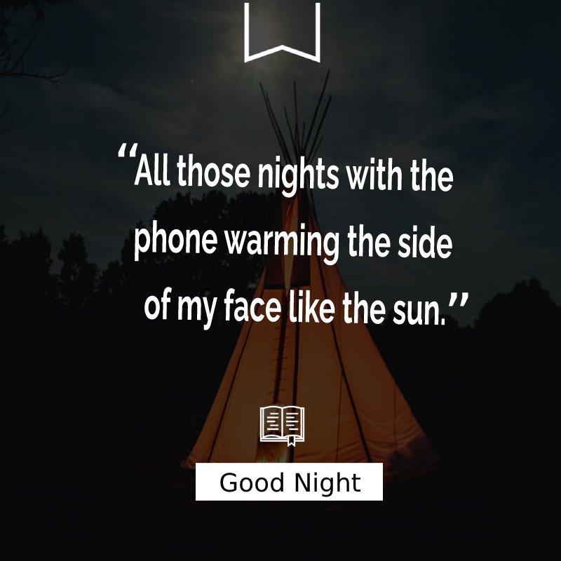 Amazing good night status
