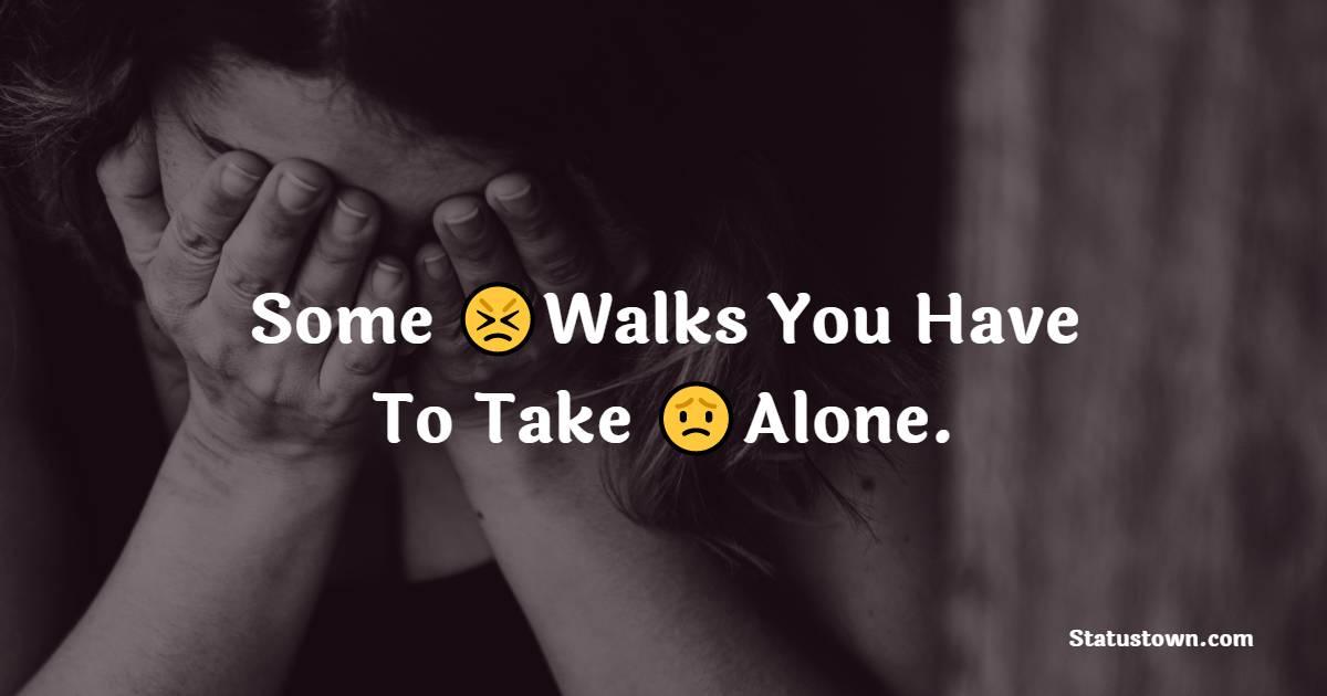 Amazing alone status