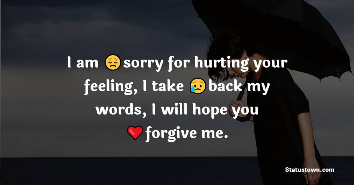 apology WhatsApp status