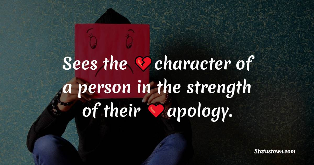 apology status Images