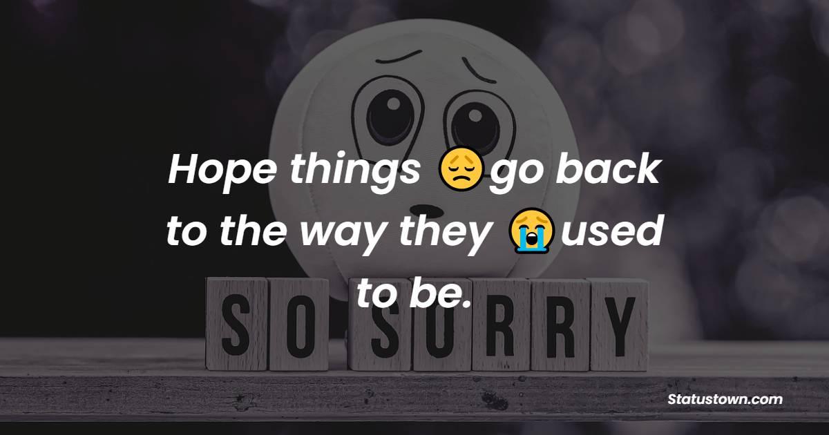 Simple apology status
