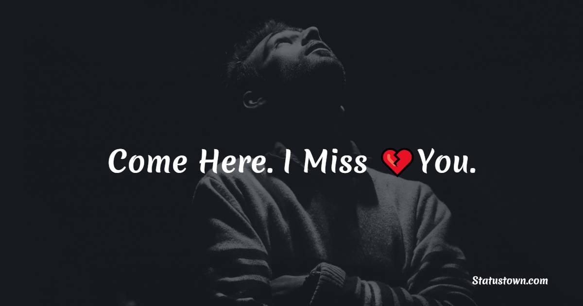 Short miss you status