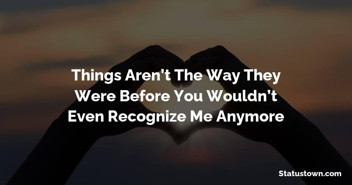 Touching breakup status