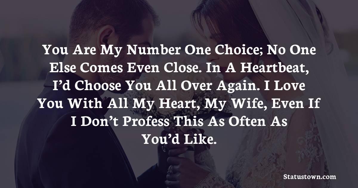 Deep love status for wife