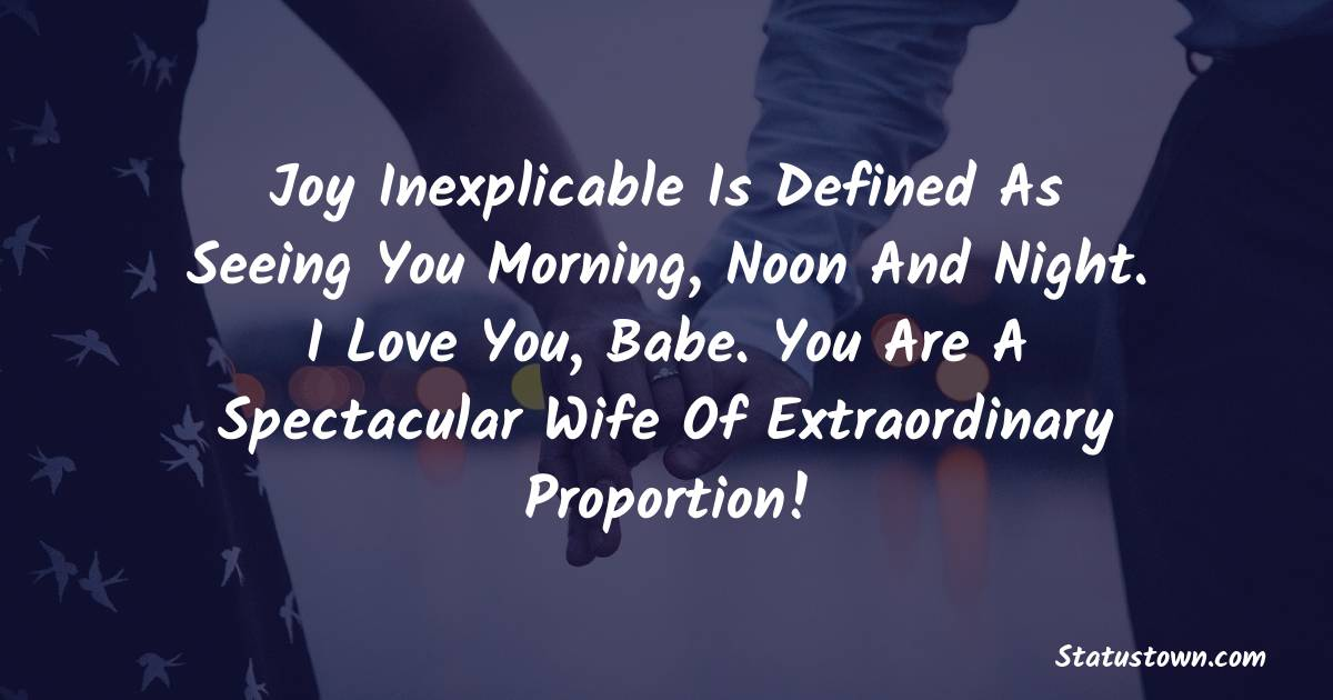 Sweet love status for wife