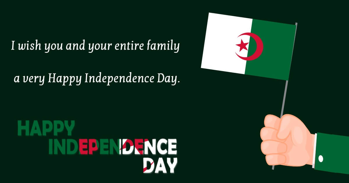 algeria independence day Messages