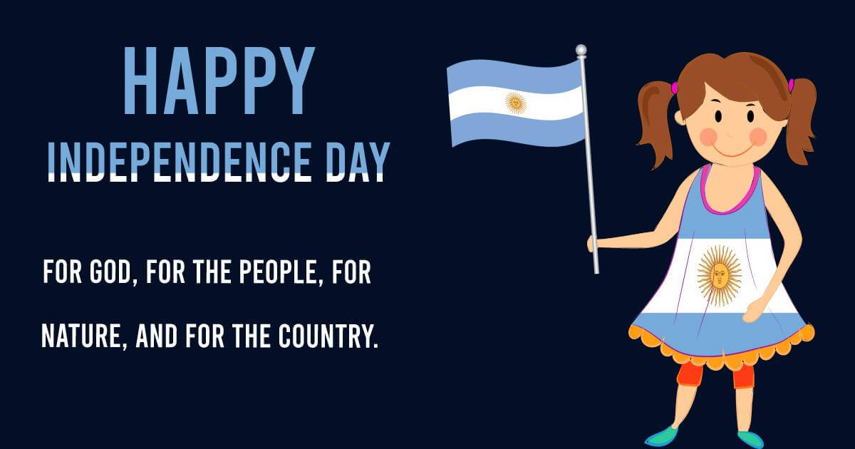 argentina independence day SMS