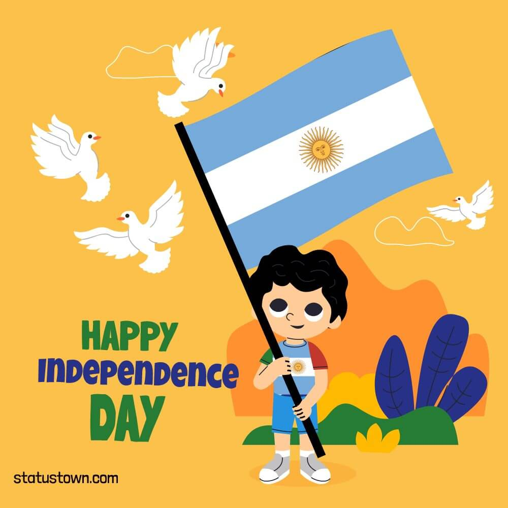argentina independence day Text