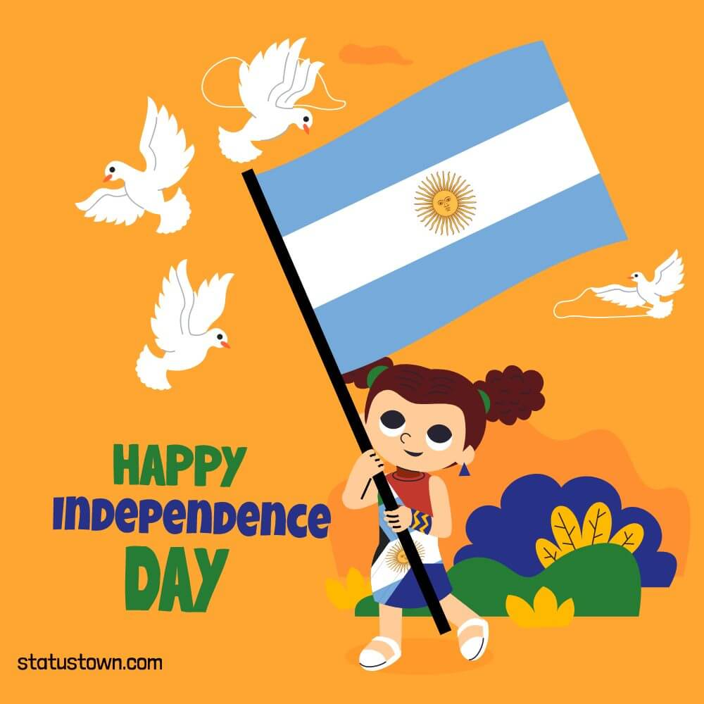 argentina independence day Status