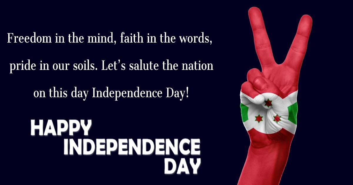 burundi independence day  SMS