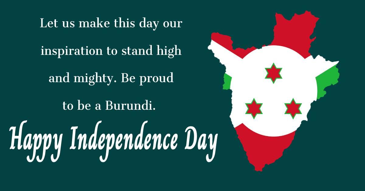 burundi independence day  Text