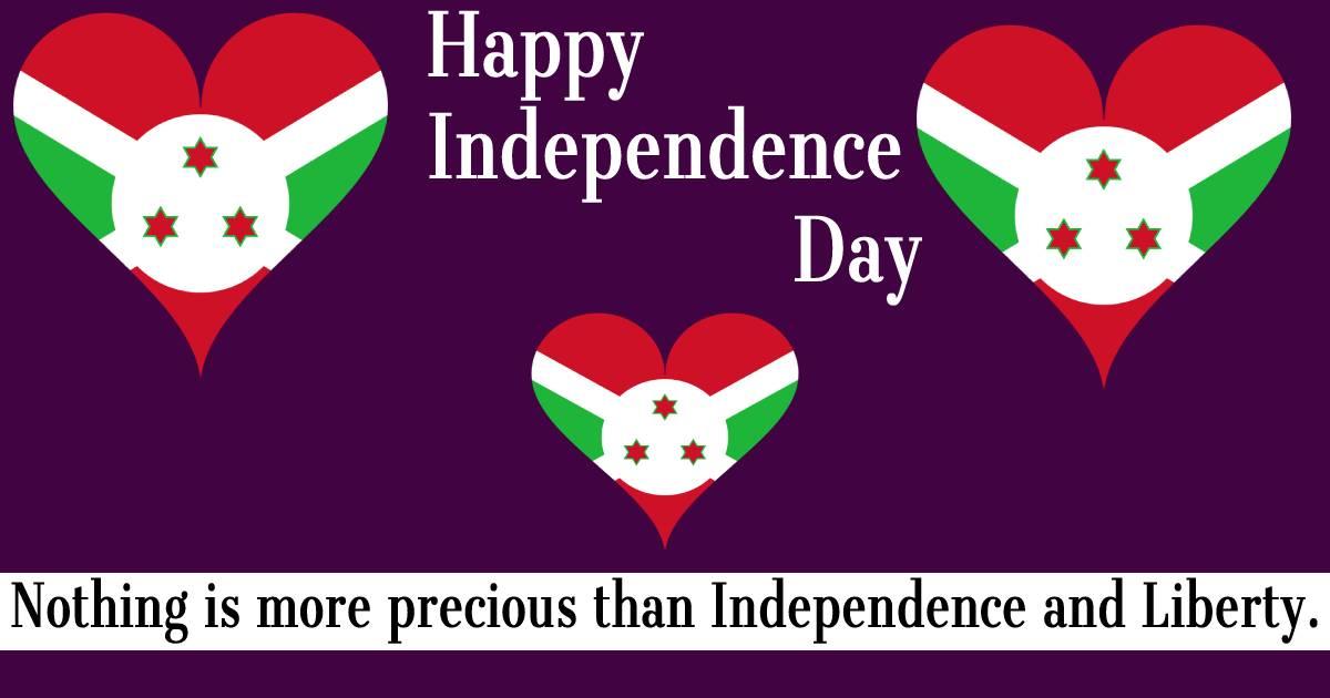 burundi independence day  Messages