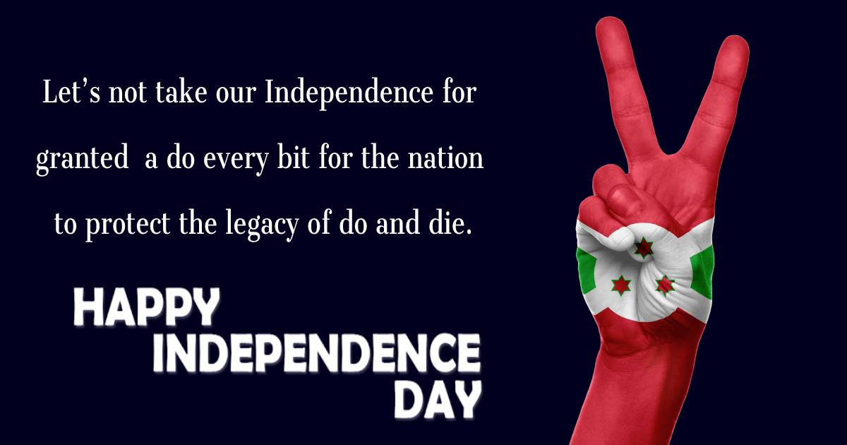 Best burundi independence day  Wishes
