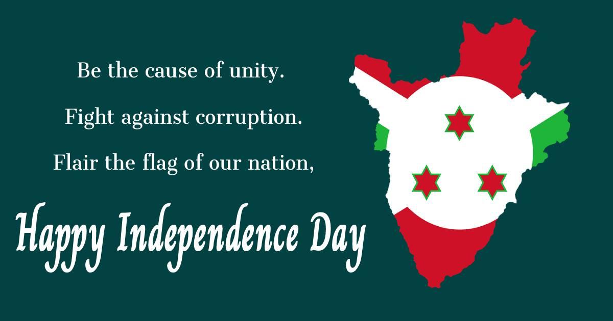 burundi independence day  Wishes