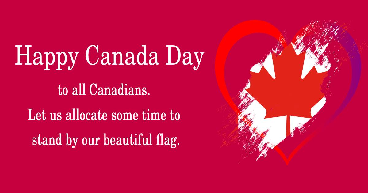 canada day SMS