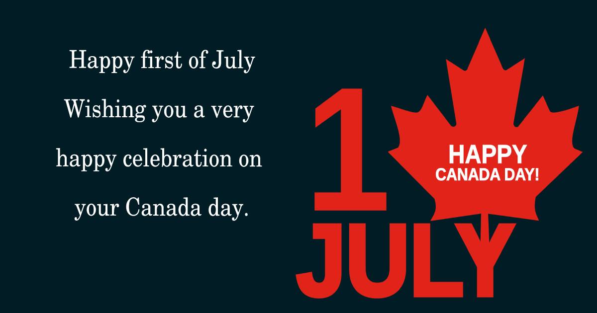 canada day Text