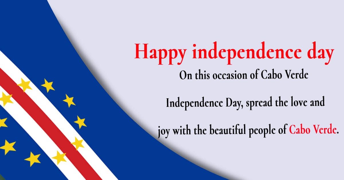 cape verde independence day SMS