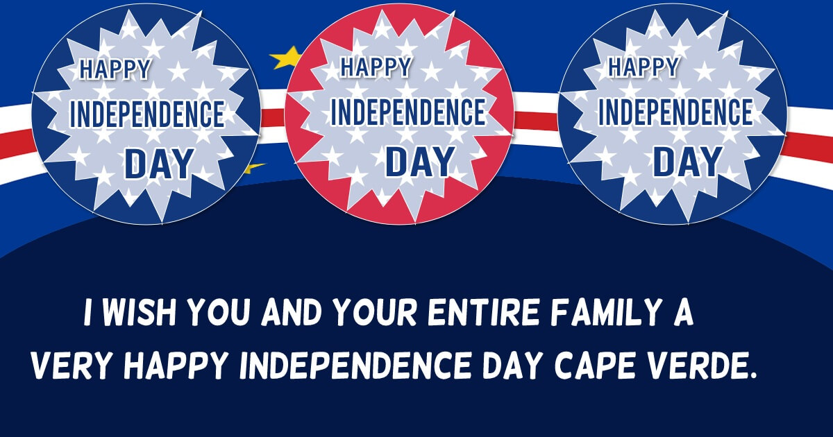 cape verde independence day Greeting