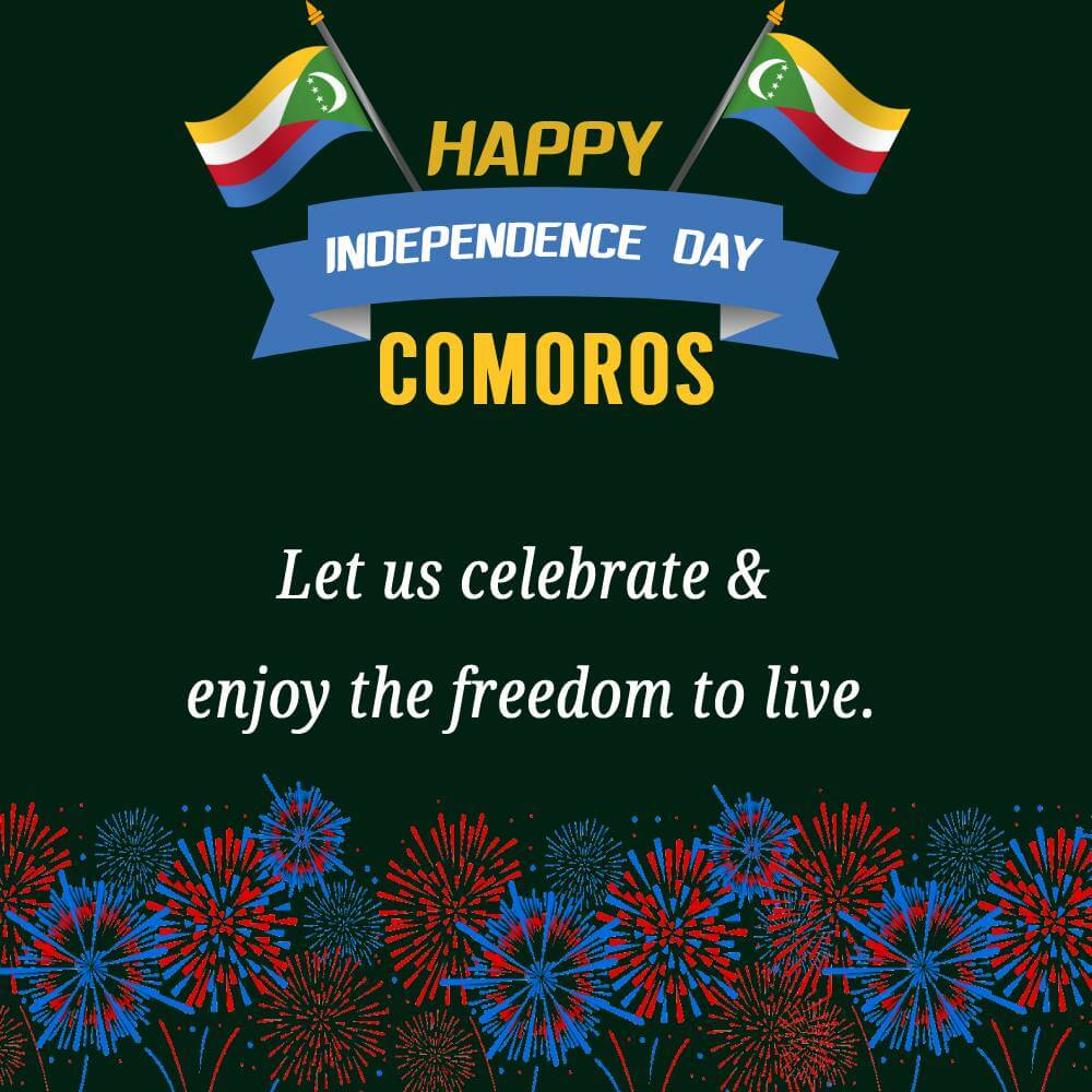 comoros independence day Text