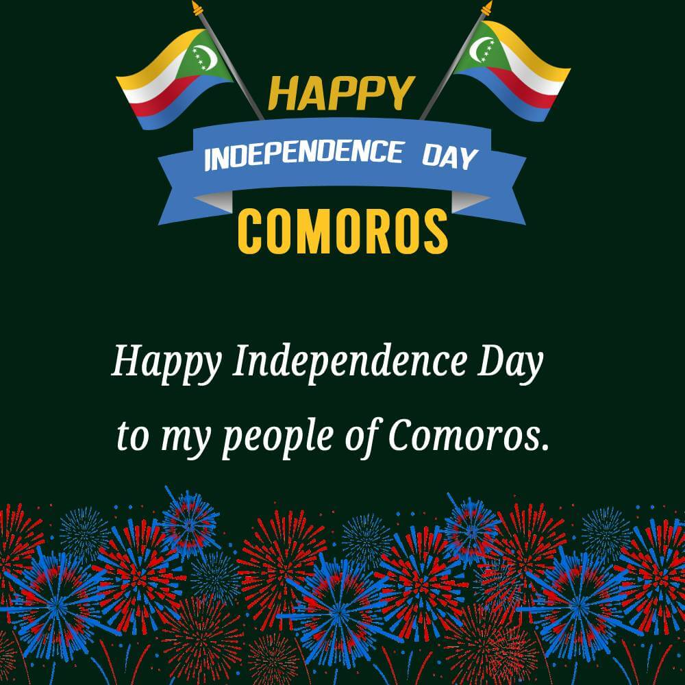 Best comoros independence day Wishes