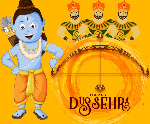 This Dussehra, may you and your family are showered with positivity, wealth, joy and success. Warm wishes of Dussehra! - Dussehra wishes, messages, and status