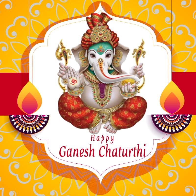 May Lord Ganesha gives you A rainbow for every storm; A smile for every tear; A promise for every care; And an answer to every prayer! Happy Ganesh Chaturthi - Ganesh Chaturthi wishes, messages, and status