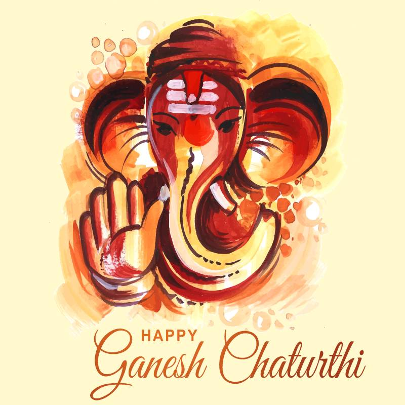 On the auspicious day of Ganesh Chaturthi, here's extending my heartfelt wishes to you and everyone at home. - Ganesh Chaturthi wishes, messages, and status