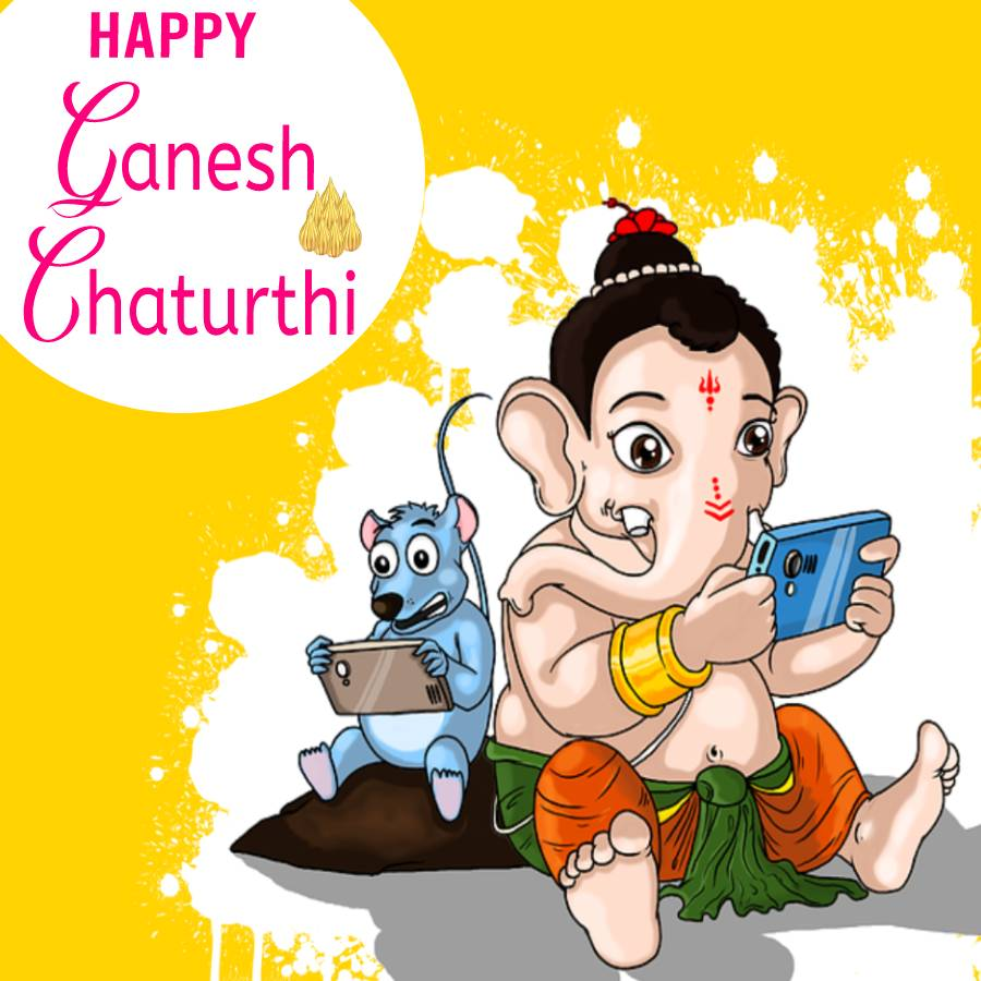 May Lord Ganapati always be by your side in every test of your life. Happy Ganesh Chaturthi! - Ganesh Chaturthi wishes, messages, and status