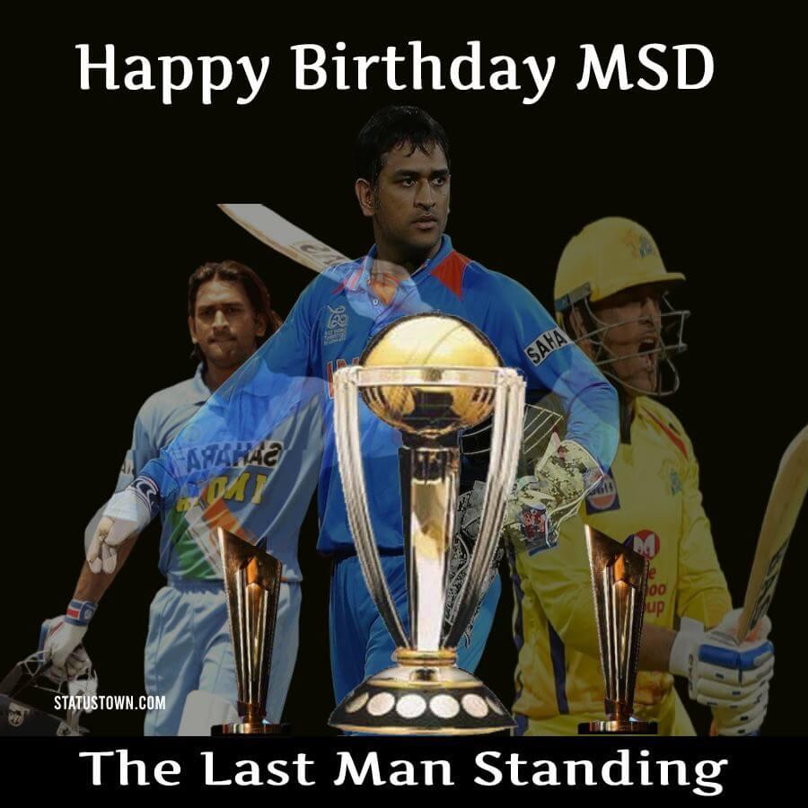 ms dhoni birthday Status