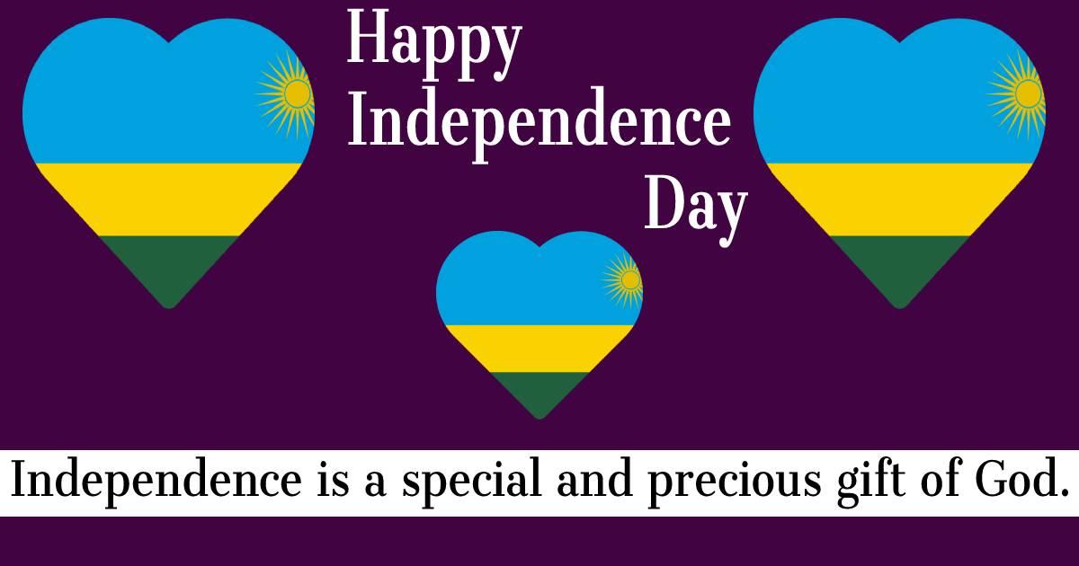 rwanda independence day  Text