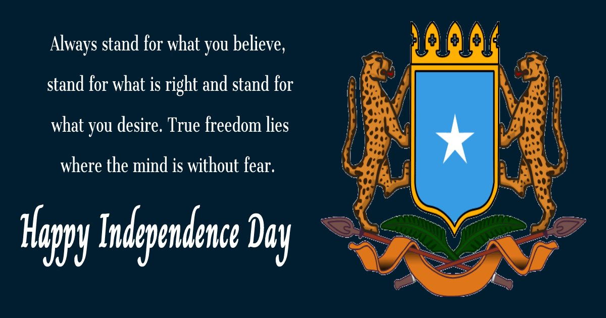 somalia independence day SMS
