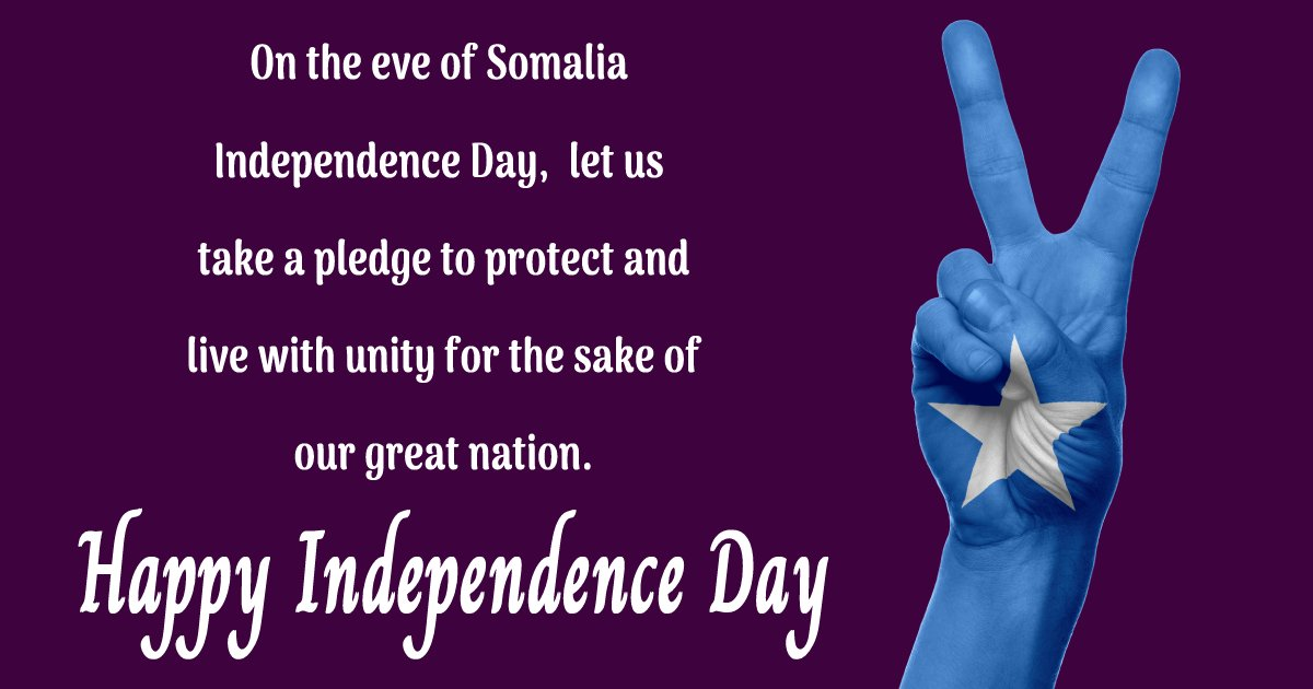 somalia independence day Text