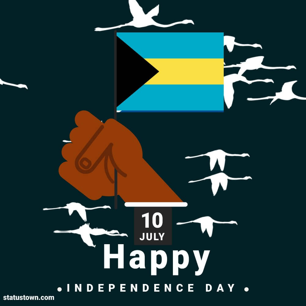 the bahamas independence day SMS