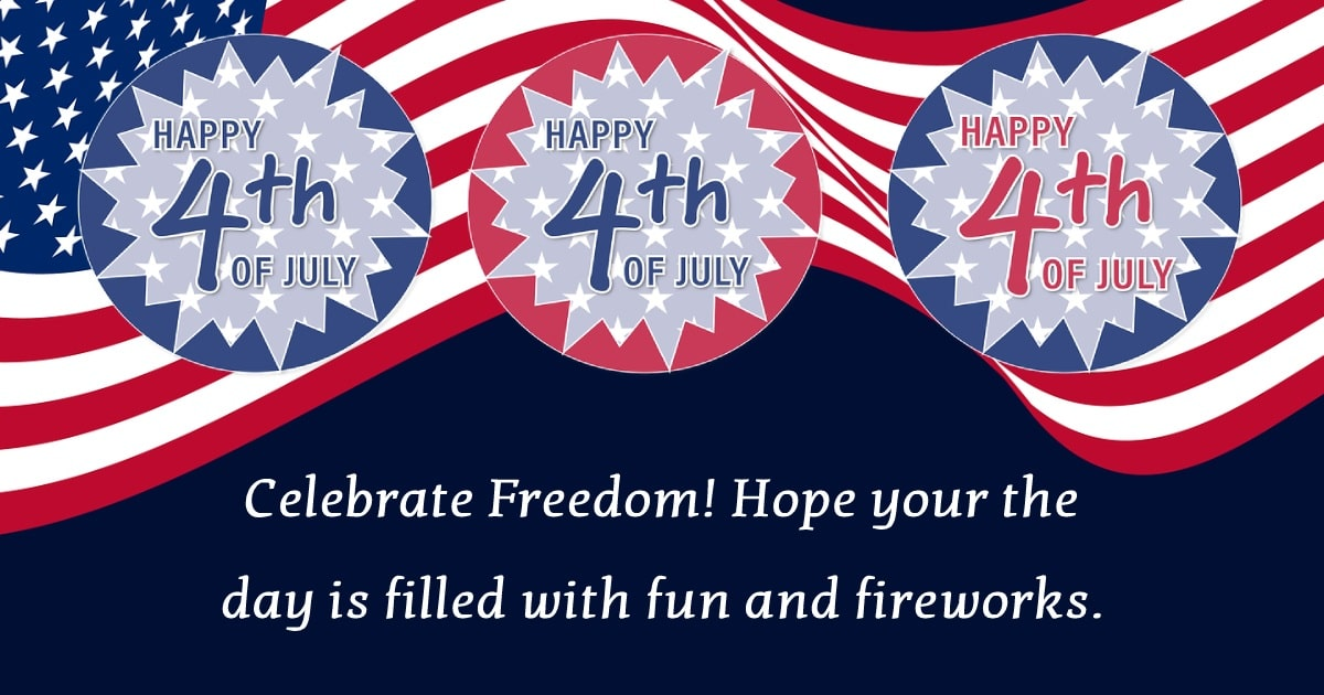 united states independence day Text