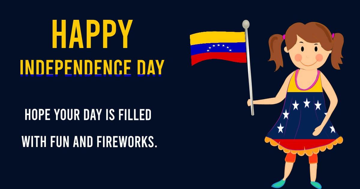 venezuela independence day SMS