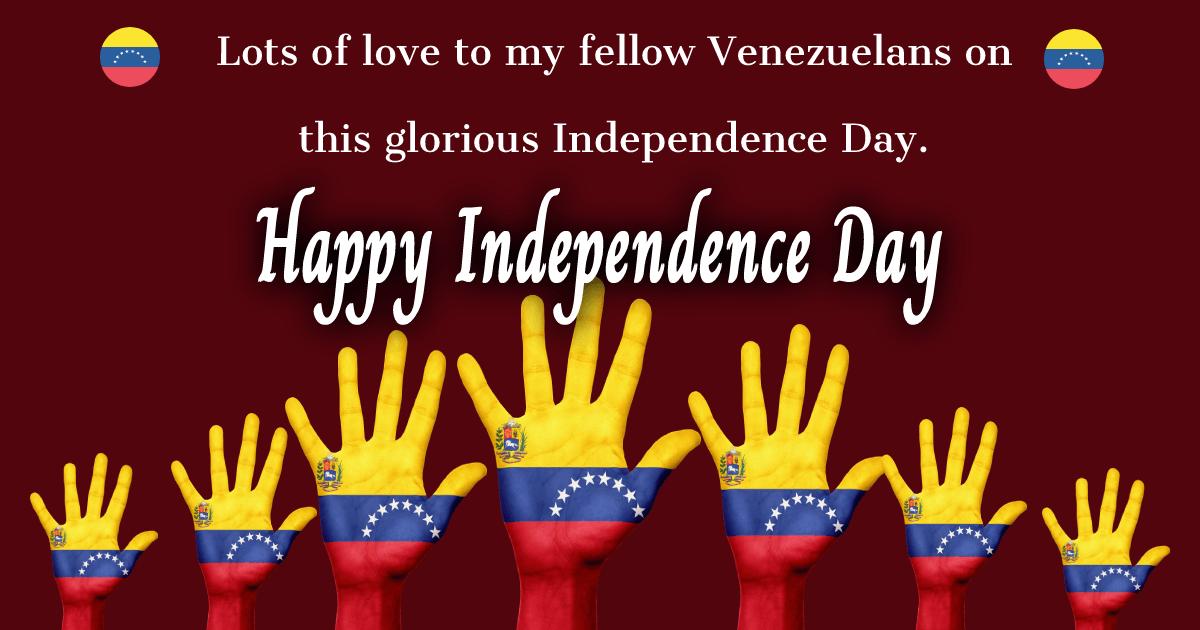 venezuela independence day Text
