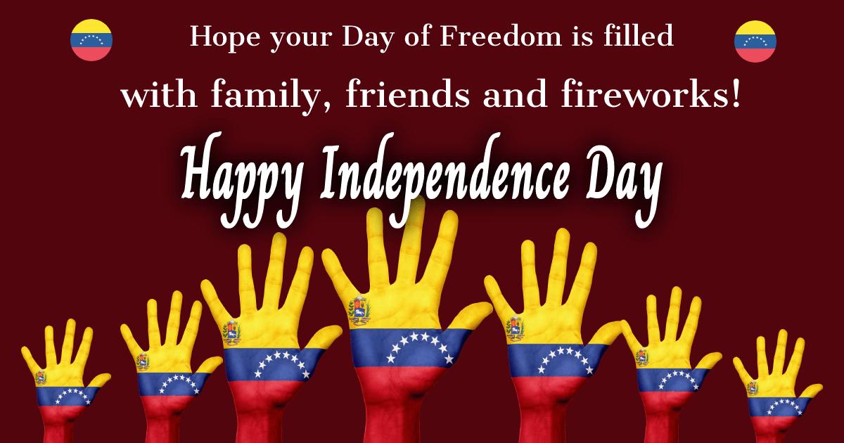 venezuela independence day Messages