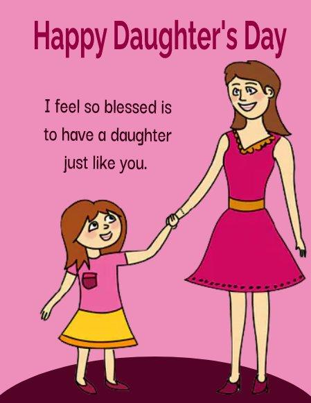 daughters day Status