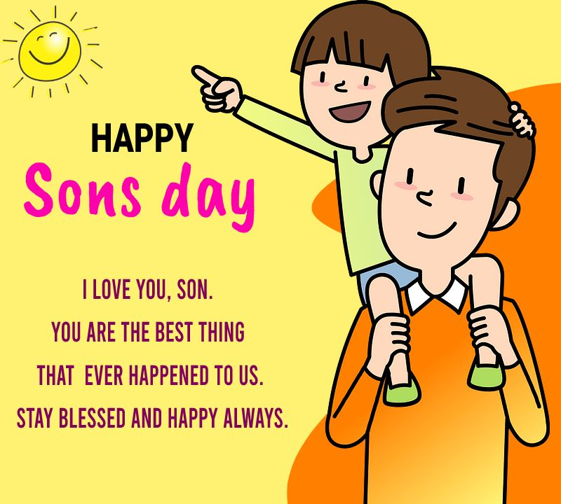 sons day  Wishes