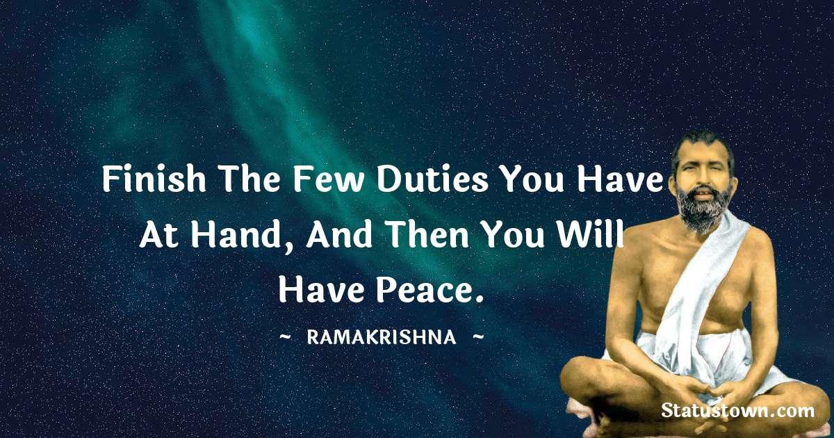Ramakrishna Positive Thoughts