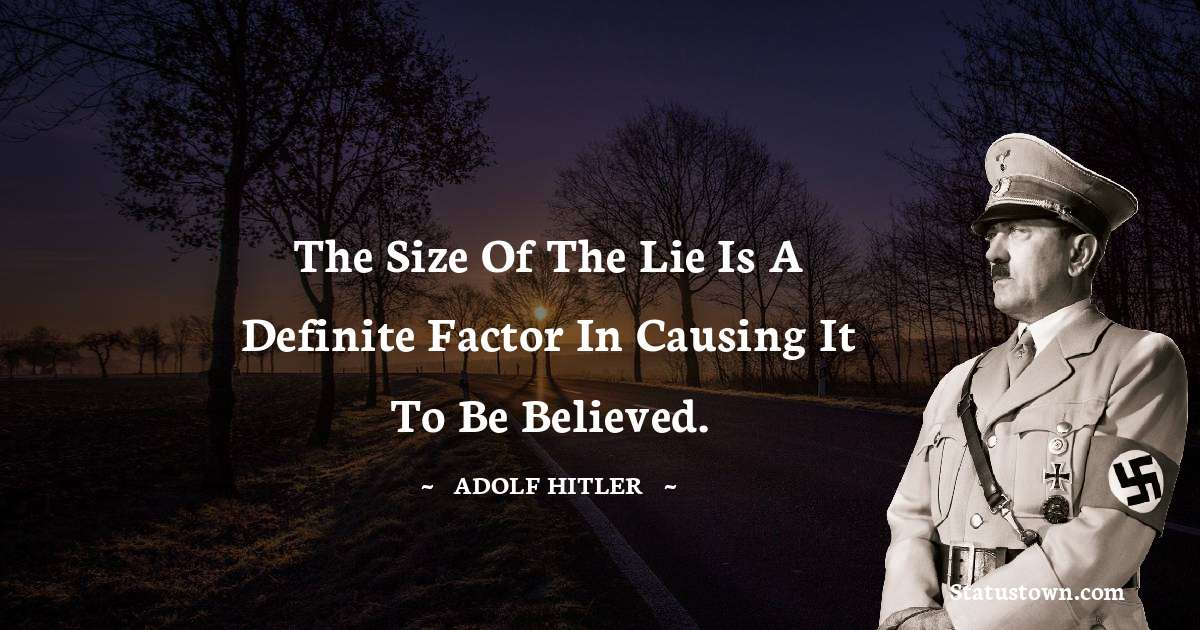 Adolf Hitler  Thoughts