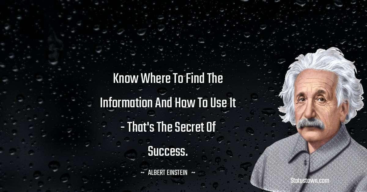 Albert Einstein  Positive Thoughts