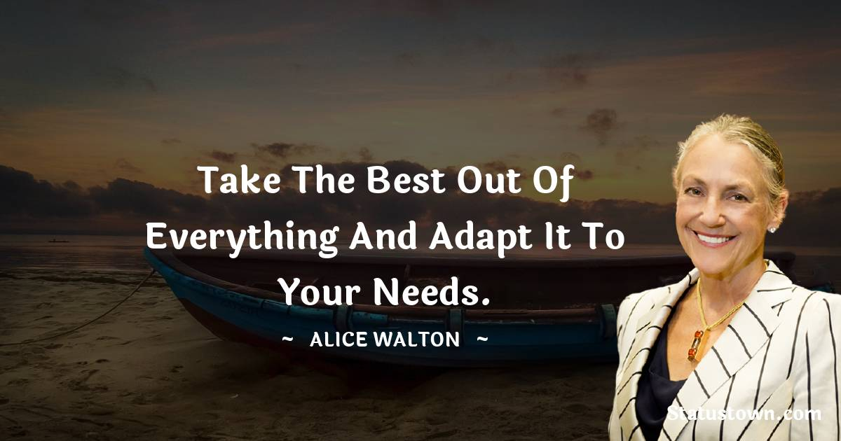Alice Walton Positive Thoughts