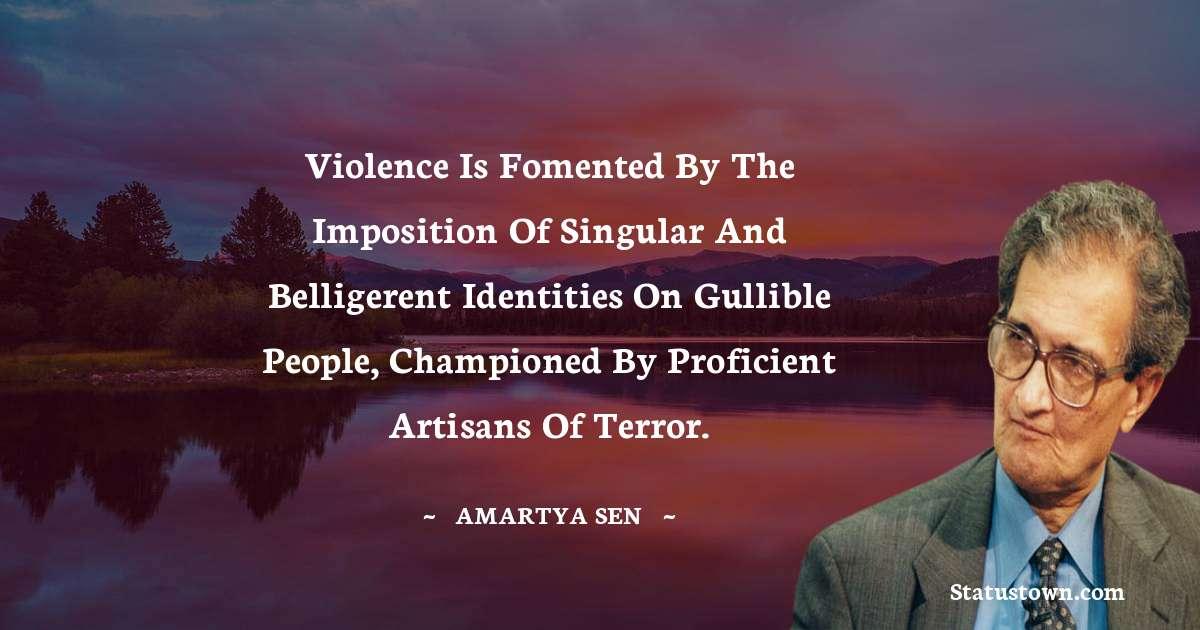 Amartya Sen Positive Thoughts