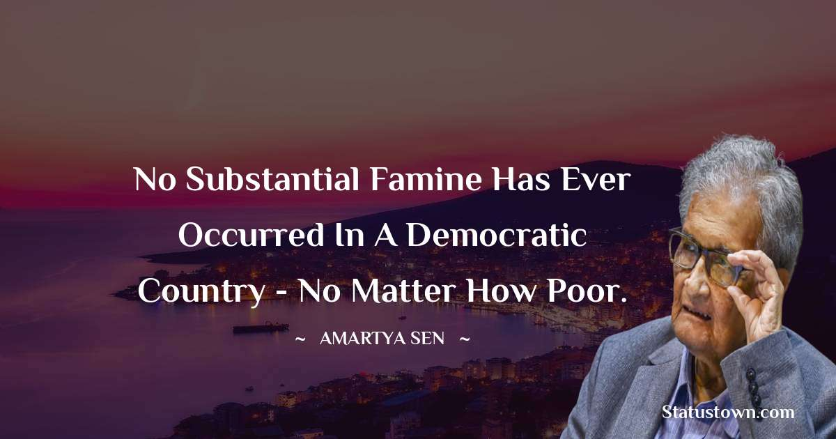 Amartya Sen Status