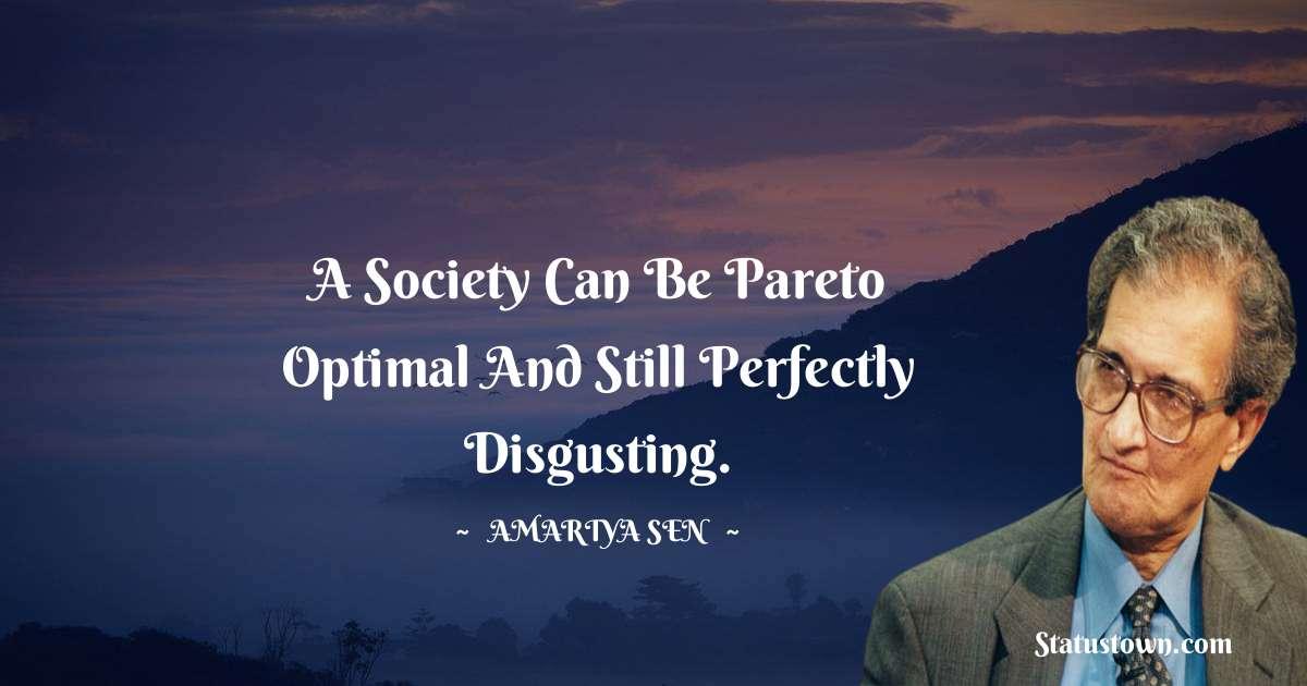 Amartya Sen Short Quotes