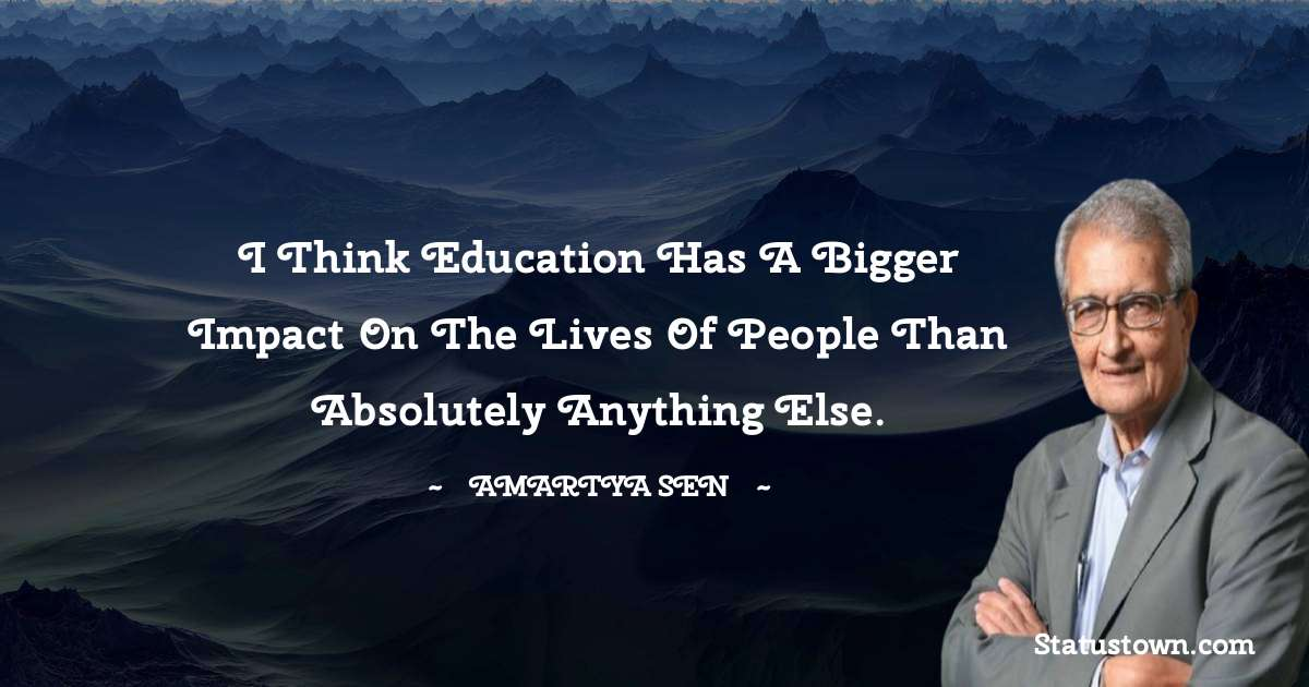 Amartya Sen Motivational Quotes